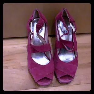 Purple suede Micheal Kors heels